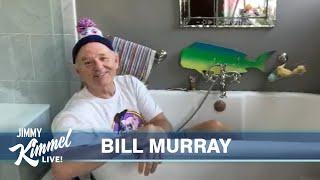 Jimmy Kimmel Interviews Bill Murray in a Bathtub