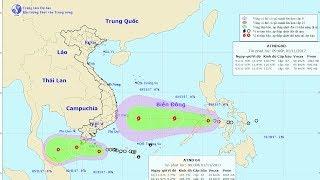 Tin Áp thấp Mới Nhất 2017 : Áp thấp nhiệt đới giật cấp 9, miền Nam mưa dông trên diện rộng