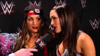 Tom Phillips welcomes the Bella Twins to the App: December 1, 2014
