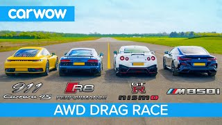New 911 vs GT-R NISMO vs Audi R8 vs BMW M850i - DRAG RACE, ROLLING RACE & BRAKE TEST