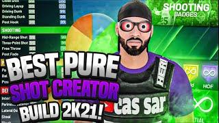 THE BEST PURE SHOT CREATOR BUILD in NBA2K21! Best Guard Build 2K21! DEMIGOD BUILD NBA 2K21