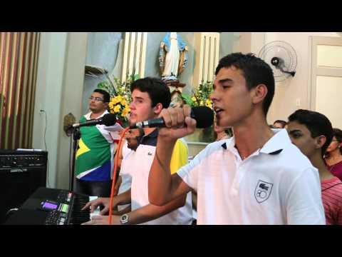 Baixar MATHEUS E DANIEL cantando na novena de NOSSA SENHORA DAS CANDEIAS em Jaguaribe  CE
