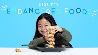 Kids Try Endangered Foods | Kids Try | HiHo Kids