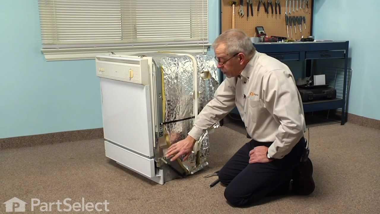 Dishwasher Repair Replacing The Door Spring Whirlpool