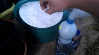 Dry ice bottle bomb underwater