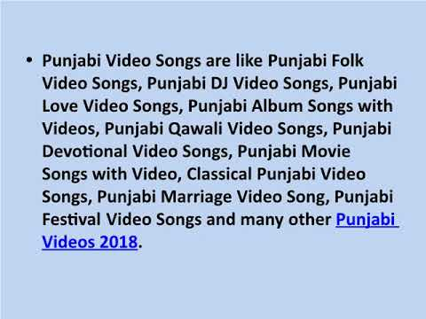Latest Punjabi Songs with Videos - Collection of Trending Punjabi Video Songs 2018