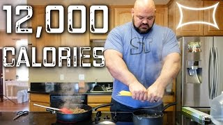 World's Strongest Man — Full Day of Eating (12,000+ calories)
