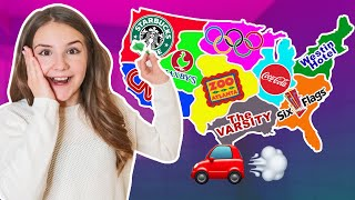 Throwing a Dart at a Map & GOING WHEREVER It Lands CHALLENGE 🎯   Piper Rockelle