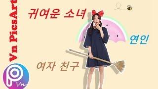 【 PicsArt 】Đổ bóng, vẽ viền, cắt, ghép theo style Korea Teen   PicsArt Editing ❤️