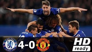 Chelsea vs Manchester United 4-0 All Goals Premer Leaque 2016 Record Live Stream