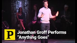 "Jonathan Groff Channels His Inner Sutton Foster to Perform ""Anything Goes"""