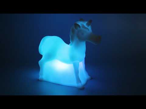 New Unicorn Colour Changing Lamp available at The Works