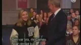 David Letterman ex lover Stephanie Birkitt in Know Your Current Events skit  www.krissbrooks.com