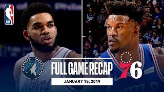 Full Game Recap: Timberwolves vs 76ers | Sixers Knock Down Franchise Record 21 Threes