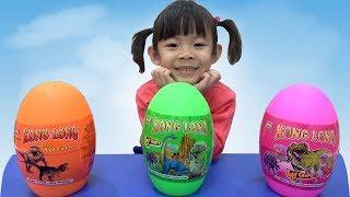 Săn Và Bóc Trứng Khủng Long Lấy Đồ Chơi ❤ AnAn ToysReview TV ❤