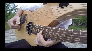 Comfortably Numb - Pink Floyd (Instrumental Harp Guitar Cover by Jamie Dupuis)