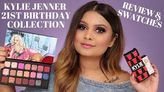 KYLIE 21ST BIRTHDAY COLLECTION REVIEW & SWATCHES | EYESHADOW PALETTE & LIPSTICKS