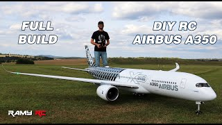 Building the Airbus A350 RC airliner, full build and first flight