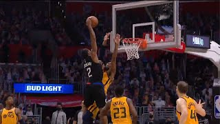 Kawhi Leonard with the CRAZIEST DUNK OF THE PLAYOFFS on Derrick Favors 😱