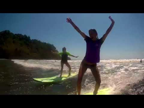 This is how we surf in costa rica - first lesson