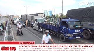 TP.HCM: Va chạm liên hoàn, đường dẫn cao tốc ùn tắc nhiều giờ