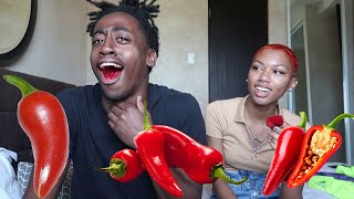 Eating Fresno Peppers Goes Wrong | With Kiana