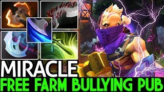 Miracle- [Anti Mage] When Pro Free Farm and Bullying Pub Game 7.21 Dota 2