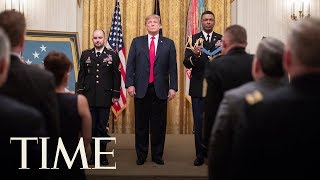 President Donald Trump Presents The Medal Of Honor At The White House   TIME