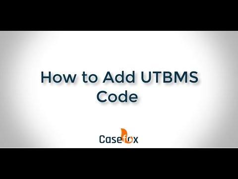 How to Add UTBMS Code - CaseFox | Legal Billing Software