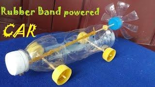 How to make a Rubber Band powered Car - Air Car