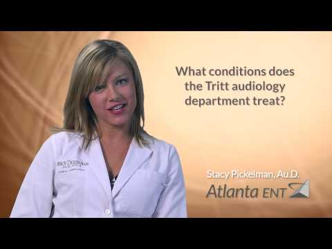 What conditions does the Tritt audiology department treat?