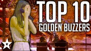 10 GOLDEN BUZZER Kid Singers on AGT & BGT | Got Talent Global
