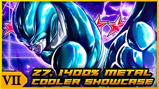 A SOLID RED OPTION FOR LOE! Z7, 1400% RED METAL COOLER GETS A POWER UP! | Dragon Ball Legends PvP