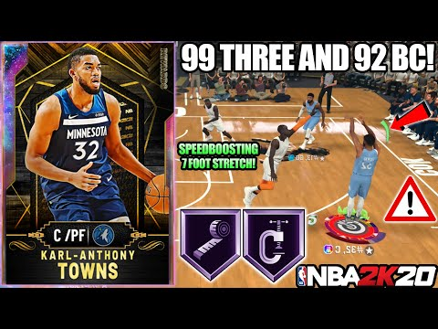 GALAXY OPAL KARL ANTHONY TOWNS GAMEPLAY! EASILY THE BEST CENTER IN NBA 2K20 MYTEAM