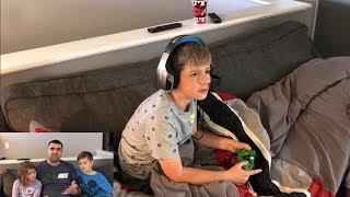 Kids React To Leland Faking Sick to Play Fortnite!