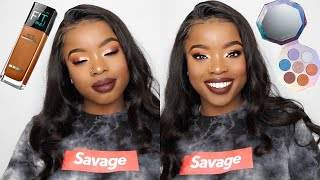 GRWM: GLOWY BURGUNDY FALL MAKEUP TUTORIAL