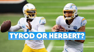 Should The Los Angeles Chargers Start Justin Herbert or Tyrod Taylor?