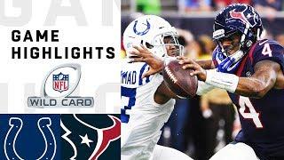 Colts vs. Texans Wild Card Round Highlights | NFL 2018 Playoffs