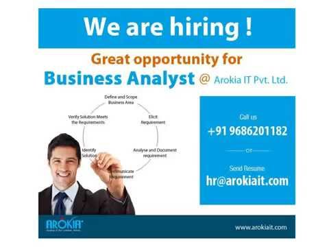 Arokia IT Pvt Limited  Hiring Business Analysts