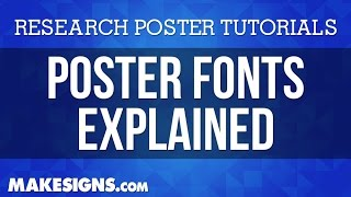 Poster Fonts