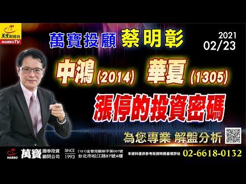 2021/02/23  中鴻、華夏漲停的投資密碼  蔡明彰
