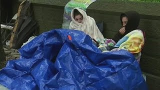 BTS Fans Camp Out in the Rain Outside Central Park