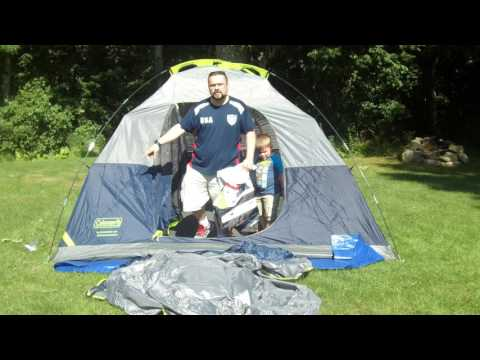 Coleman Sundome 6 Person Tent Review & A look at the Coleman 9X7 4 person Sundome Tent | VideoMoviles.com