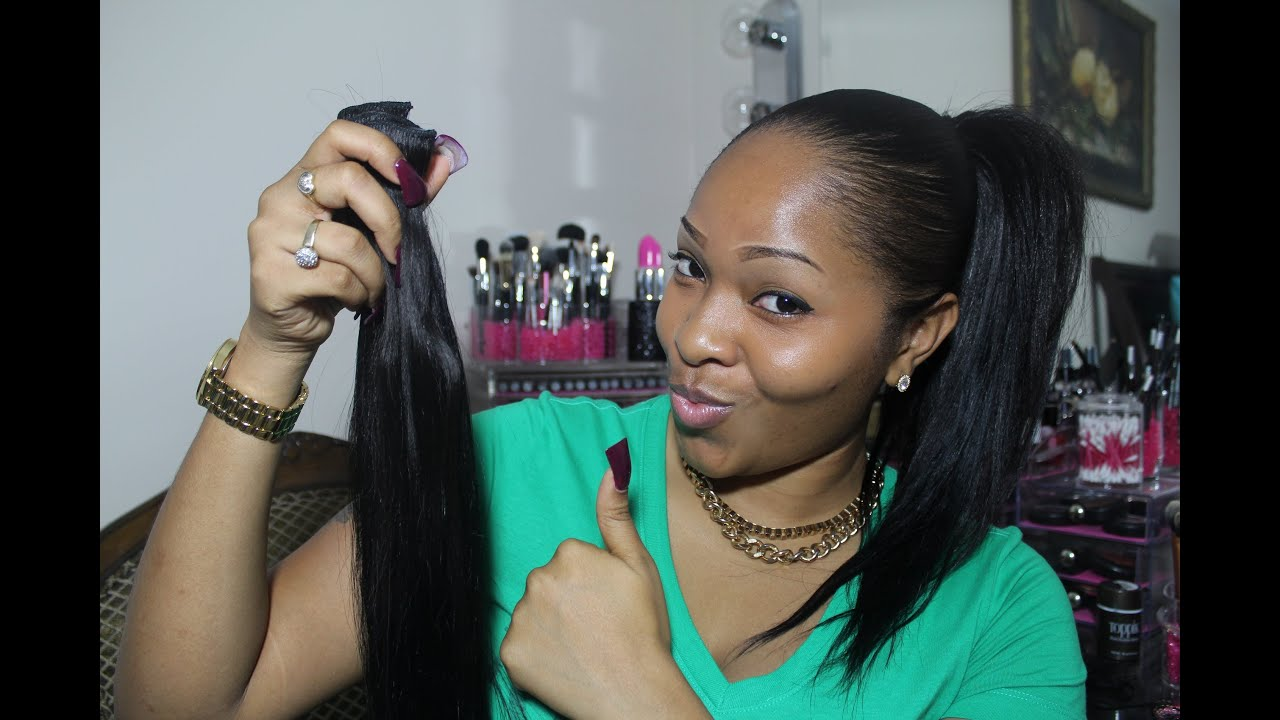 How To High Amp Low Ponytail Using Clip In Extensions Vp