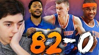 82-0 CHALLENGE - 2017 NEW YORK KNICKS WITH DERRICK ROSE! NBA 2K16 MY LEAGUE