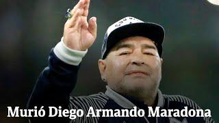 ¡ÚLTIMO MOMENTO! Murió Diego Armando Maradona