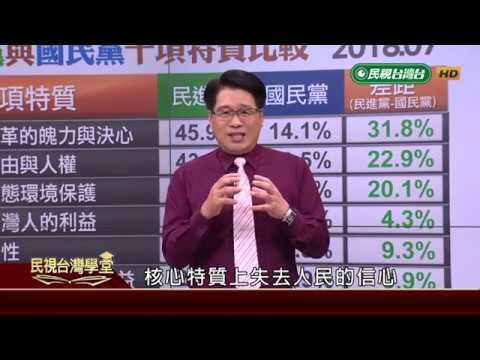 【民視台灣學堂】台灣民意: 又見民意海嘯:2018民進黨選情告急 2018.11.7—游盈隆