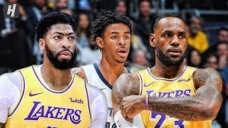 Memphis Grizzlies vs Los Angeles Lakers - Full Highlights | October 29, 2019 | 2019-20 NBA Season