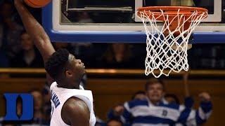 Every Zion Williamson Dunk In Duke Win vs. Eastern Michigan