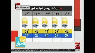 هذا الصباح| تعرف على حالة الطقس ودرجات الحرارة المتوقعة اليوم ...